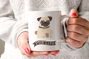 Pug Life Ceramic Coffee Mug - Go Pugs