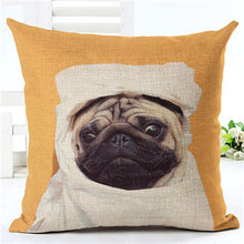 Hot Selling Pug Cotton Throw Pillowcase - Go Pugs