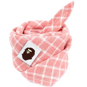 5pcs Plaid Dog Bandanas - Go Pugs