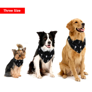 Adjustable Black and White Bandana (S-L) - Go Pugs