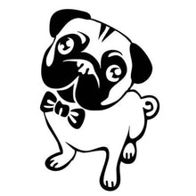 10x5.2CM Cute Pug Cartoon Car Sticker - Go Pugs