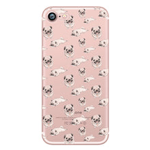 Funny Pug Silicon Transparent Soft Phone Case for Apple iPhone 6 5S SE 6S 7plus 5 6plus - Go Pugs