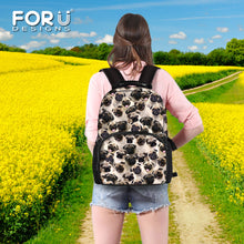 3D Pug Print Canvas Travel Backpack (2 colors) - Go Pugs