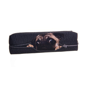 Peeking Pug Digital black 3D Print Pouch - Go Pugs