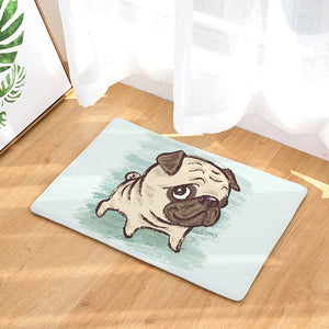 Funny Cartoon Pug Decorative Floor Mat (18 designs) - Go Pugs