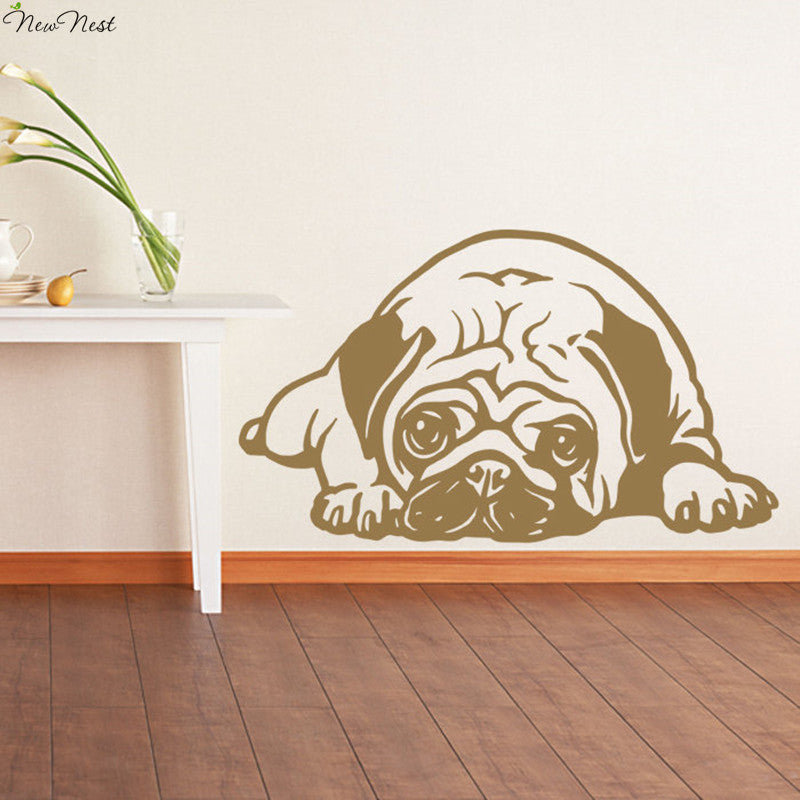 Pug Snooze Vinyl Wall Decal Vinyl - Go Pugs