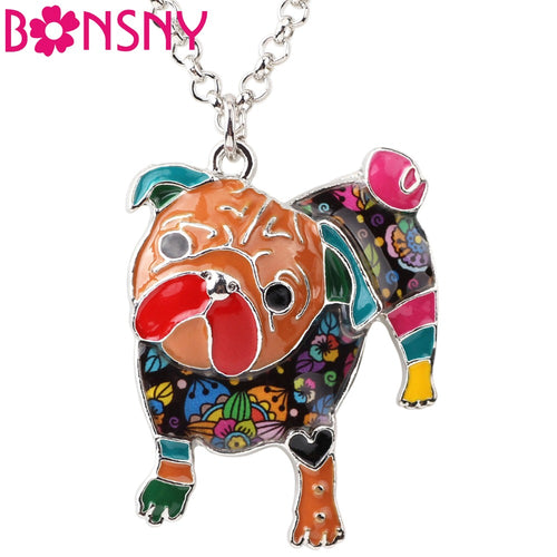 Multi color Enamel Pug Pendant (6 colors) - Go Pugs