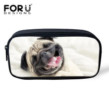 3D Pug Print Cosmetic/Travel/Pencil Pouch (8 designs) - Go Pugs
