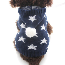 Stars Design Winter Knit Hoodie Sweater  (XS-XXL) - Go Pugs