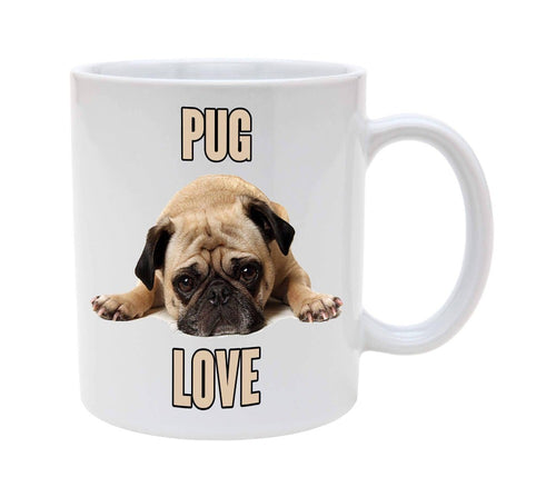 Pug Love Ceramic Coffee Cup - Go Pugs