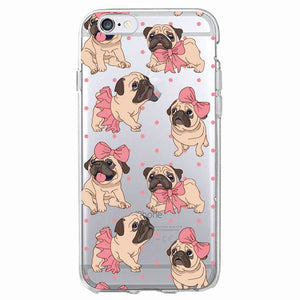Pug Puppy Soft Phone Case For iPhone7Plus 6 6S 6Plus 8 8plus X Samsung (3 designs) - Go Pugs