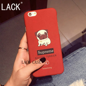Cartoon Pug Thin Frosted Hard Phone Case For iPhone 6  6S 6Plus - Go Pugs
