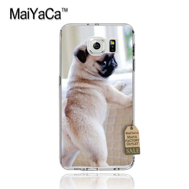 Pug Life Soft Phone Case For Samsung Galaxy s8 plus s7edge s5 s6edge plus s7 s8 (4 designs) - Go Pugs