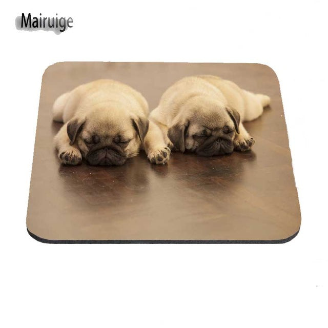 Sleeping Pug Non-Skid Soft Gaming Mat/Mouse Pad - Go Pugs
