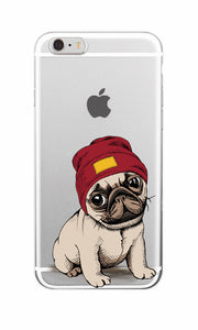Puppy Pug Phone Case For iPhone 6 6S 6PLUS 7 7PLUS 5 5S 8 8PLUS 4 4S X - Go Pugs