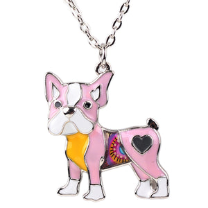 Maxi Alloy Enamel Pug  Chain Pendant (5 color choices) - Go Pugs