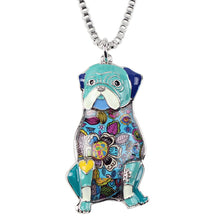 Colorful Sitting Pug Pendant (6 colors) - Go Pugs