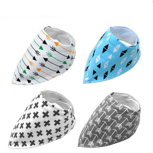 4 PCS Dog Bandana Collar - Go Pugs