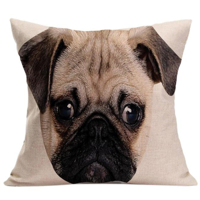 Vintage Cute Dog Pillowcases - Go Pugs
