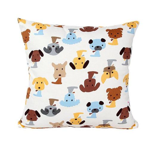 Dog Pattern Pillowcase - Go Pugs