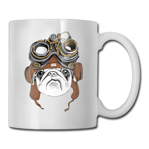Explorer Pug Ceramic Coffee Mug - Go Pugs