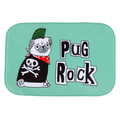 PUG ROCK Anti-Slip Doormat For Outdoor/ Indoor - Go Pugs