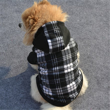 Black and White Grid Fleece Hoodie Sweater (XS-XL) - Go Pugs