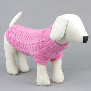 Classic Solid Color Sweater For Small Dogs - Go Pugs