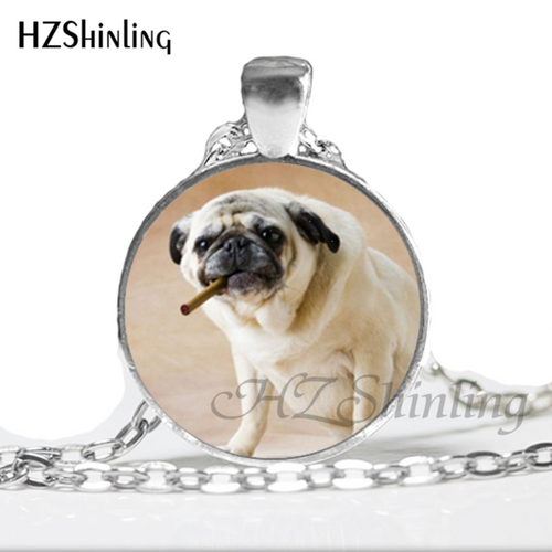 Glass Dome Pug Pendant (7 designs) - Go Pugs