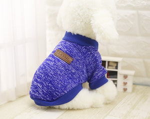 Solid Color Soft Sweater For Small Dogs (XS-XXL) - Go Pugs