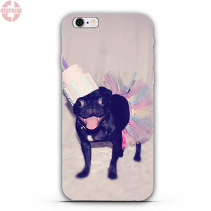 Soft Silicon Cell Phone Cases For iPhone 4 4S 5 5C SE 6 6S 7 8 Plus X - Go Pugs