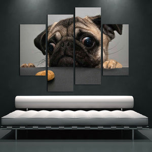 Pug And Cookie Canvas Print Wall Art (No Frame) - Go Pugs