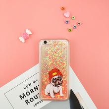 NEW Glitter Heart Sequins Liquid Quicksand Pug Face Phone Case For iPhone 7plus 7 6plus 8plus 6 6s 8 5 5S SE 4 4S 5C - Go Pugs