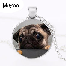 Round Glass Dome Pendant For Dog Lovers - Go Pugs