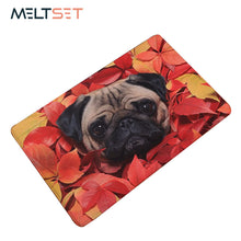 New Pug Dog Print Anti-slip Floor Mat   40x60cm/50x80cm (11 selections) - Go Pugs