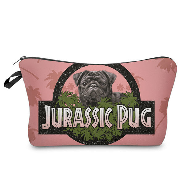 Jurassic Pug Cosmetic Pouch/Travel Pouch/Pencil Pouch - Go Pugs