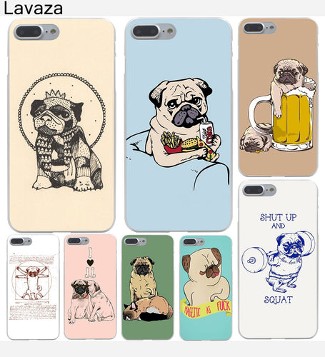 Pug Dog Hard Phone Case For Apple iPhone X 10 7 6 6s 8 Plus 5 5S SE 5C 4 4S - Go Pugs