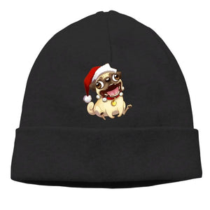 Pug Print Casual Knit Beanie For Adult - Go Pugs