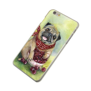 Puppy Pug Hard Phone Case for Apple iPhone X 10 8 7 6 6s Plus 5 5S SE 5C 4 4S - Go Pugs