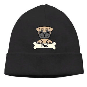Unisex Adult Casual Warm Knit Beanie (11 designs) - Go Pugs