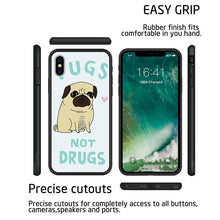 Cartoon Pug Silicone Hard Cover Phone Cases For iPhone 5, 6, 6S, 7 - Go Pugs