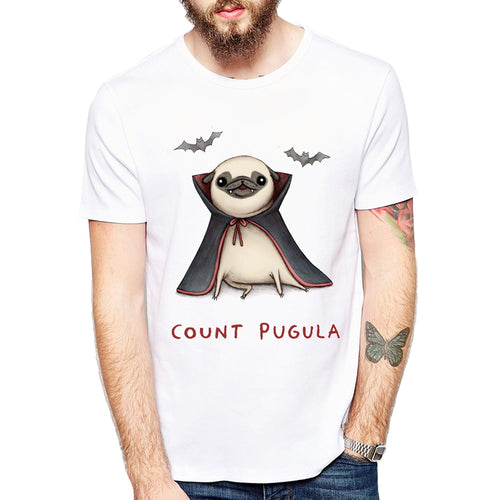 New Men's short sleeve Bat Pug T-Shirt - Go Pugs