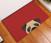Cartoon Pugs Floor Mat For Bathroom, Kitchen, and Home (2 colors) - Go Pugs