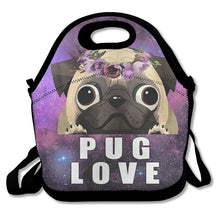 3D Pug Love Print Insulated WaterproofLunch Bags/Shoulder Bag (3 designs) - Go Pugs
