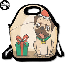 3D Pug Print Insulated Waterproof Lunch Bag/Shoulder Bag (4 designs) - Go Pugs