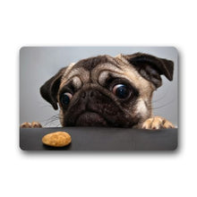 Pug And Cookie Washable Floor Mat - Go Pugs