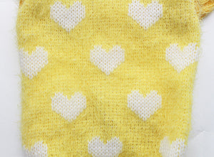 Small Dog Hearts Jacquard Hoodie Sweater (6 sizes) - Go Pugs