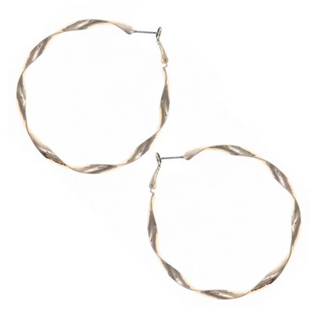 Sandy Twisted Hoops