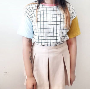 COLORFUL GRID TEE-SHIRT