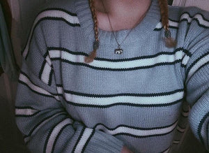CANDY STRIPED SWEATER